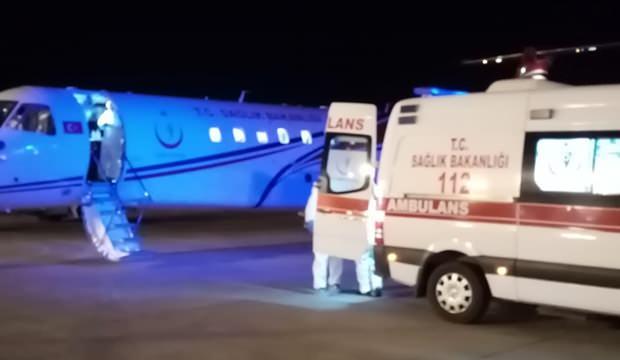 Ambulans uçak 61 yaşındaki hasta için havalandı