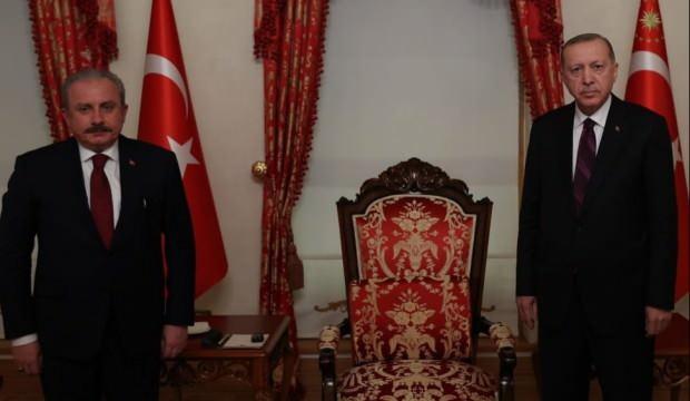 Başkan Erdoğan, TBMM Başkanı Şentop'u kabul etti