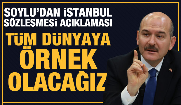 Son dakika haberi: Bakan Soylu'dan İstanbul Sözleşmesi açıklaması