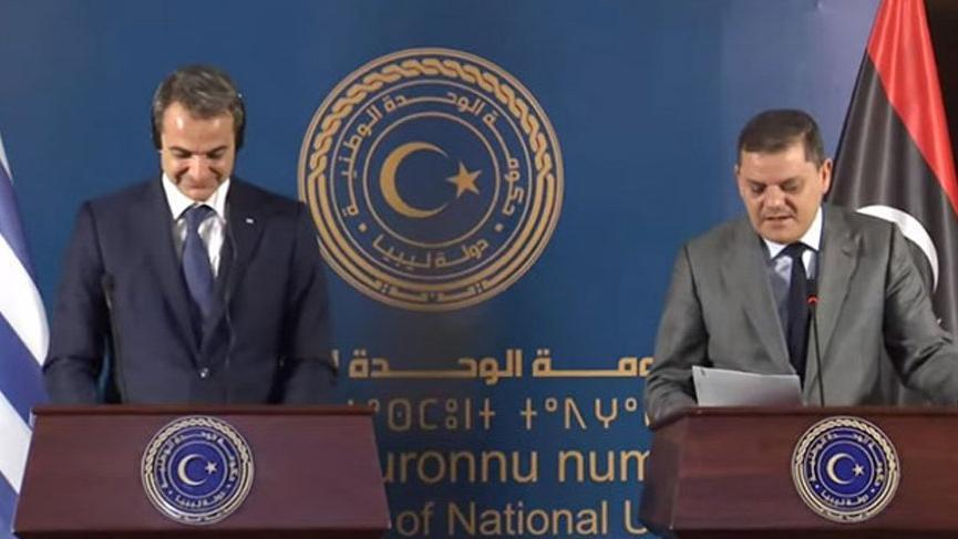 Yunanistan Başbakanı Miçotakis'in yanında söyledi! Libya'dan Türkiye açıklaması