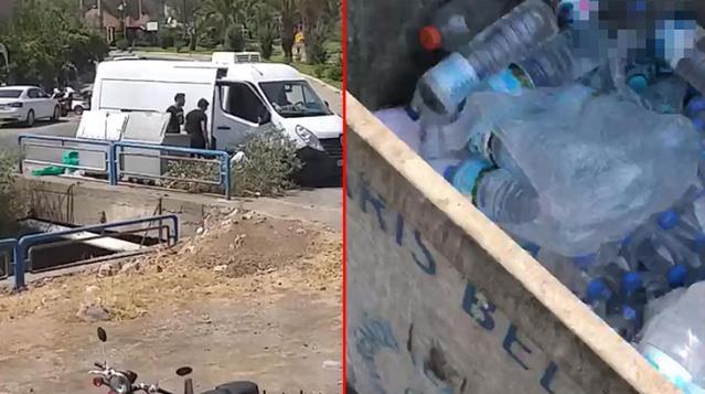 Çamaşır asan kadın fark etti! Yangınla mücadele eden personelin sularını çöpe atan şahıslara gözaltı